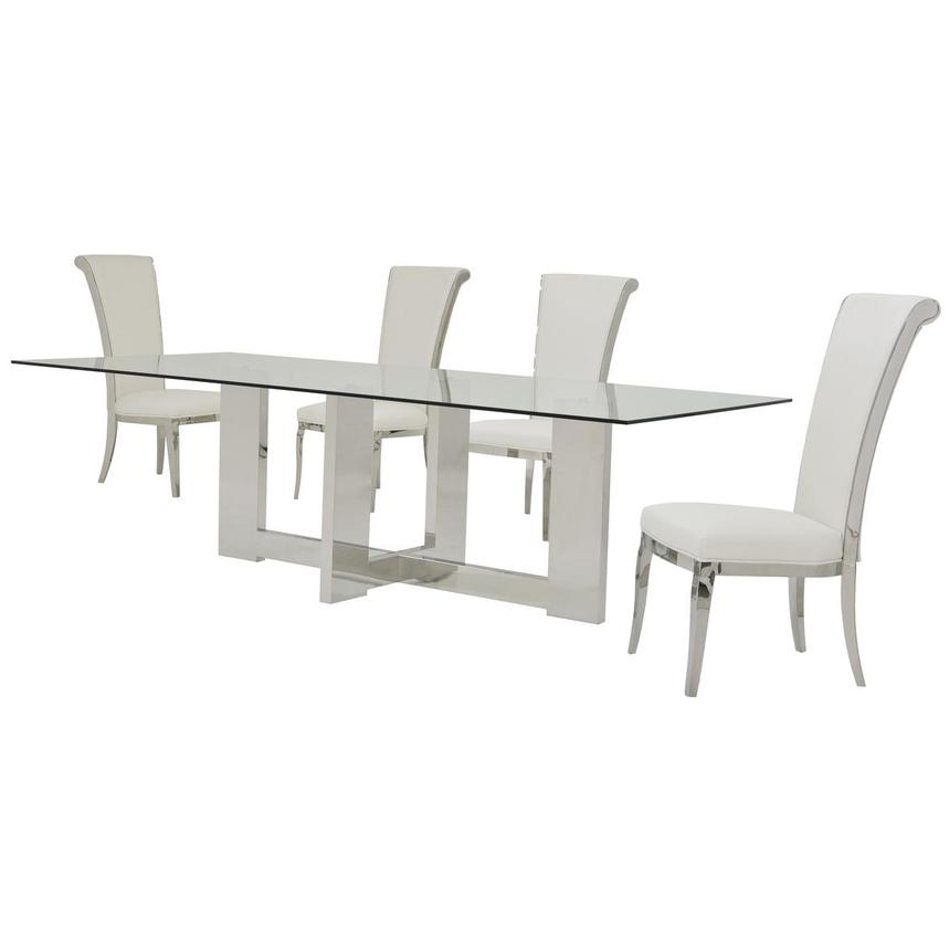 Opus/Joy White 5-Piece Formal Dining Set  alternate image, 2 of 11 images.