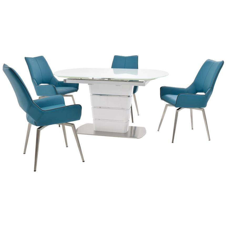 Santal/Kalia Blue 5-Piece Formal Dining Set  main image, 1 of 15 images.