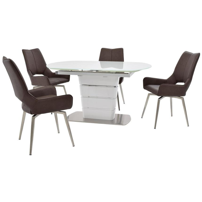 Santal/Kalia Brown 5-Piece Formal Dining Set  main image, 1 of 16 images.