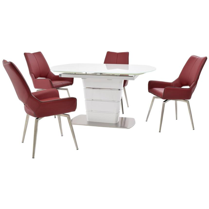 Santal/Kalia Red 5-Piece Formal Dining Set  main image, 1 of 16 images.