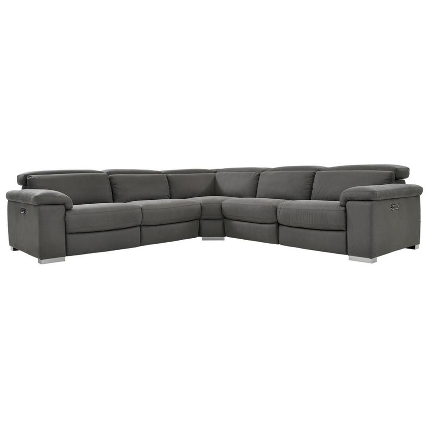 Karly Dark Gray Power Motion Sofa w/Right & Left Recliners  main image, 1 of 7 images.