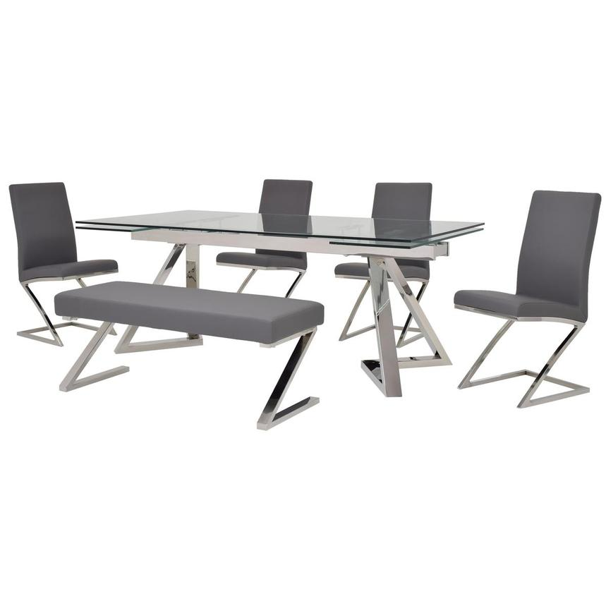 Suri/Jade Gray 6-Piece Formal Dining Set  main image, 1 of 16 images.