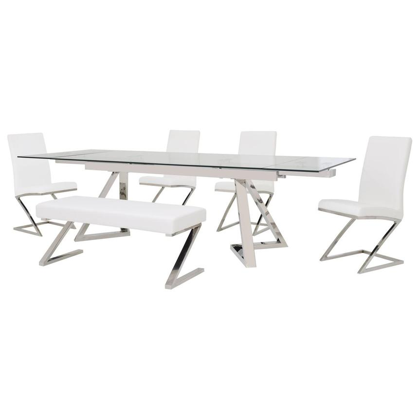 Suri/Jade White 6-Piece Formal Dining Set  main image, 1 of 16 images.