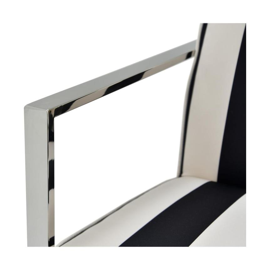 Pleasant Fairmont Black White Accent Chair Machost Co Dining Chair Design Ideas Machostcouk