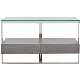 Calypso Matte Gray Console Table