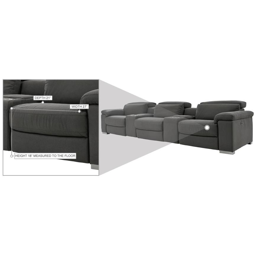 Karly Dark Gray Home Theater Seating  alternate image, 10 of 10 images.