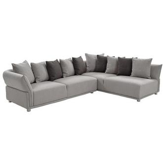 Alonzo Gray Sectional Sofa w/Right Chaise