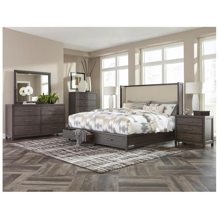 Edina Queen Storage Bed | El Dorado Furniture