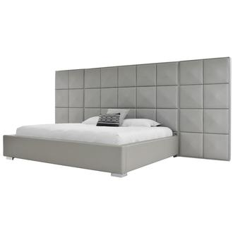 Lux Suite Gray King Platform Bed