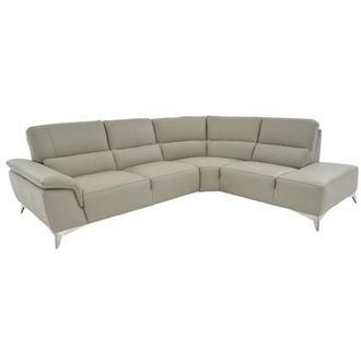 Sparta White Leather Sofa W Right Chaise El Dorado Furniture