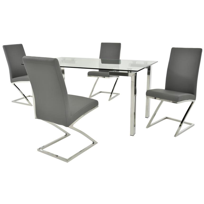 Julli/Jade Gray 5-Piece Casual Dining Set  main image, 1 of 11 images.