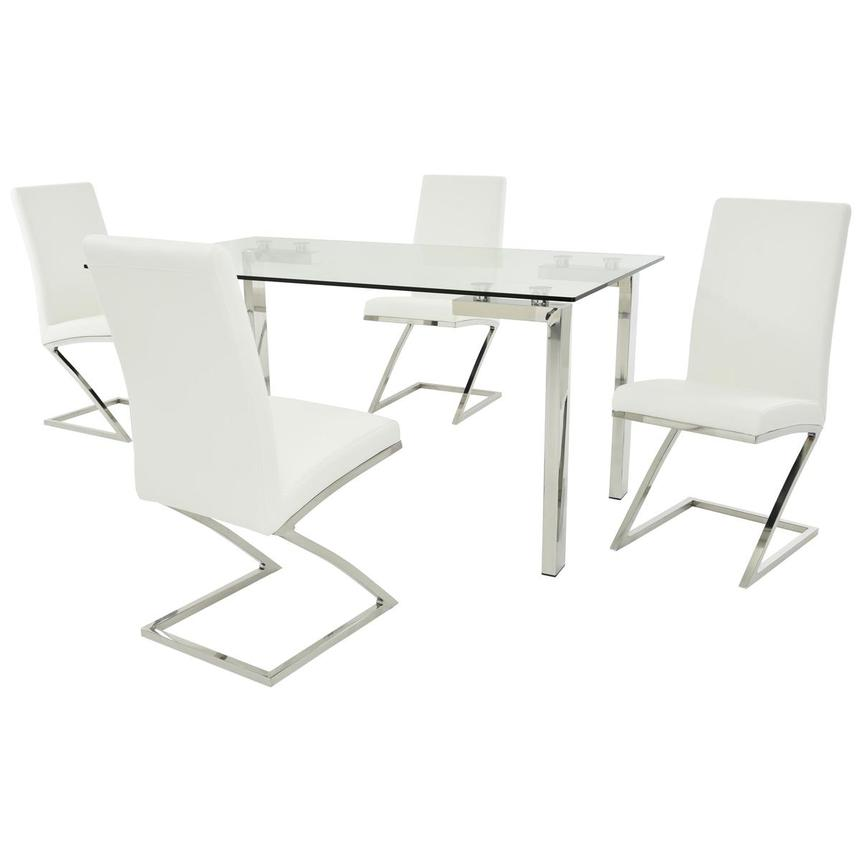 Julli/Jade White 5-Piece Casual Dining Set  main image, 1 of 11 images.