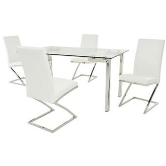 Julli/Jade White 5-Piece Dining Set