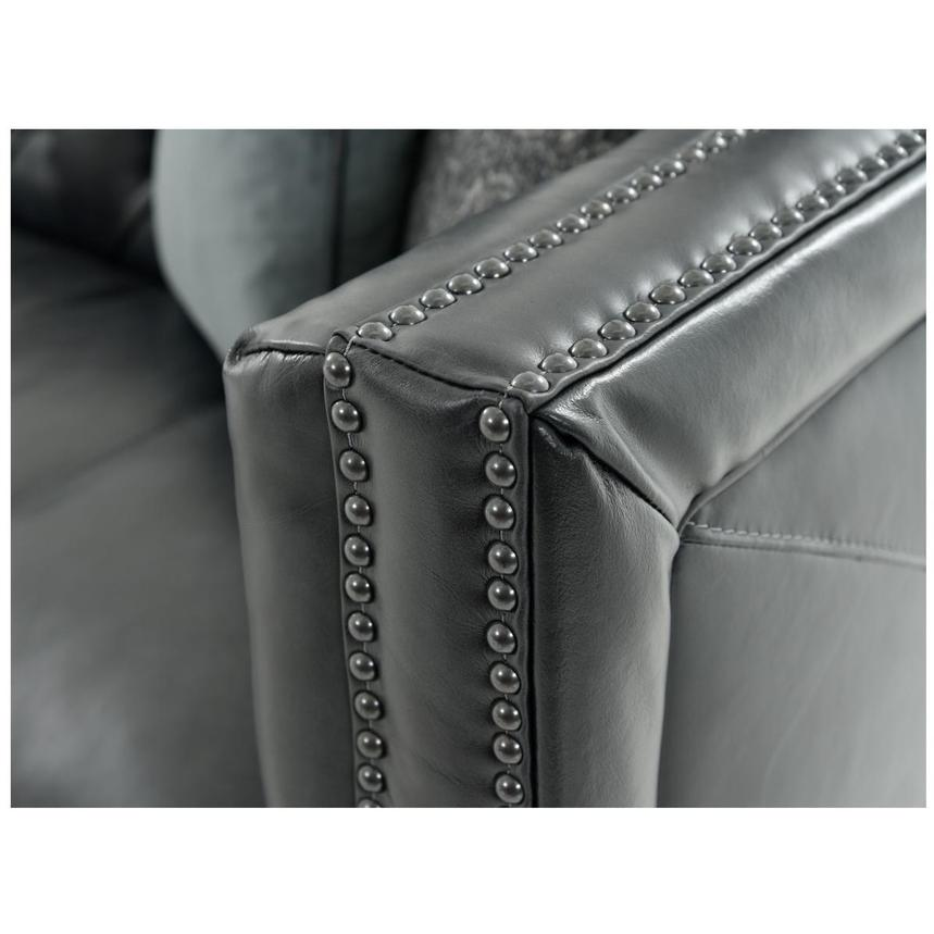 Sophia Gray Leather Loveseat  alternate image, 6 of 7 images.