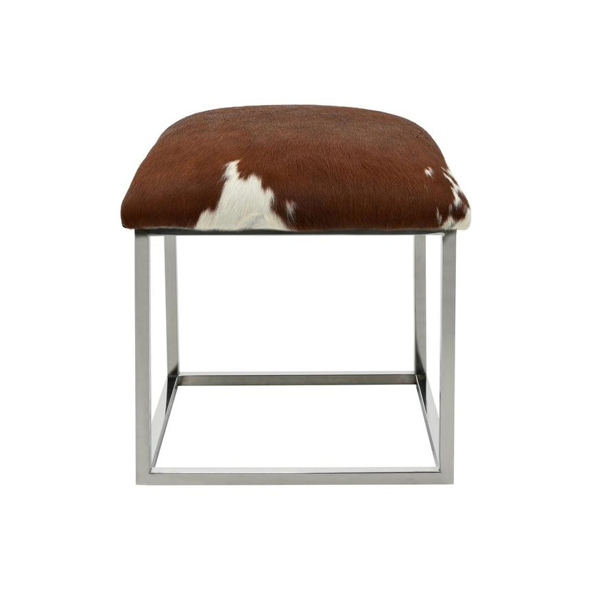 Krava Brown Leather Ottoman  main image, 1 of 3 images.