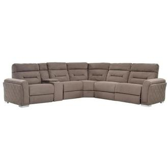Kim Brown Power Motion Sofa w/Right & Left Recliners