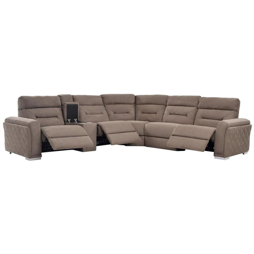Kim Brown Power Motion Sofa w/Right & Left Recliners  alternate image, 2 of 7 images.