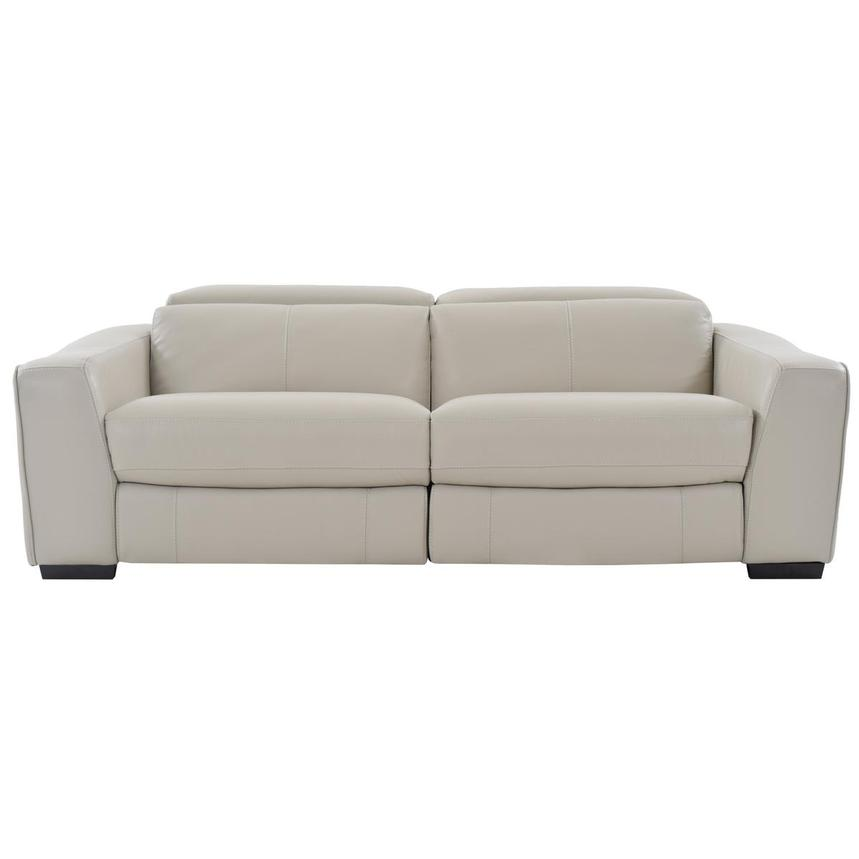 Jay Cream Leather Power Reclining Sofa  main image, 1 of 6 images.