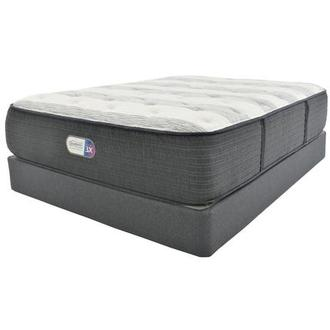Clover Spring Queen Mattress w/Regular Foundation by Simmons Beautyrest Platinum