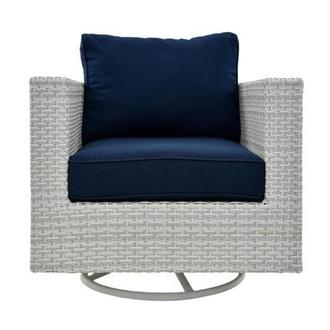 Ft.Meyers Blue Swivel Chair