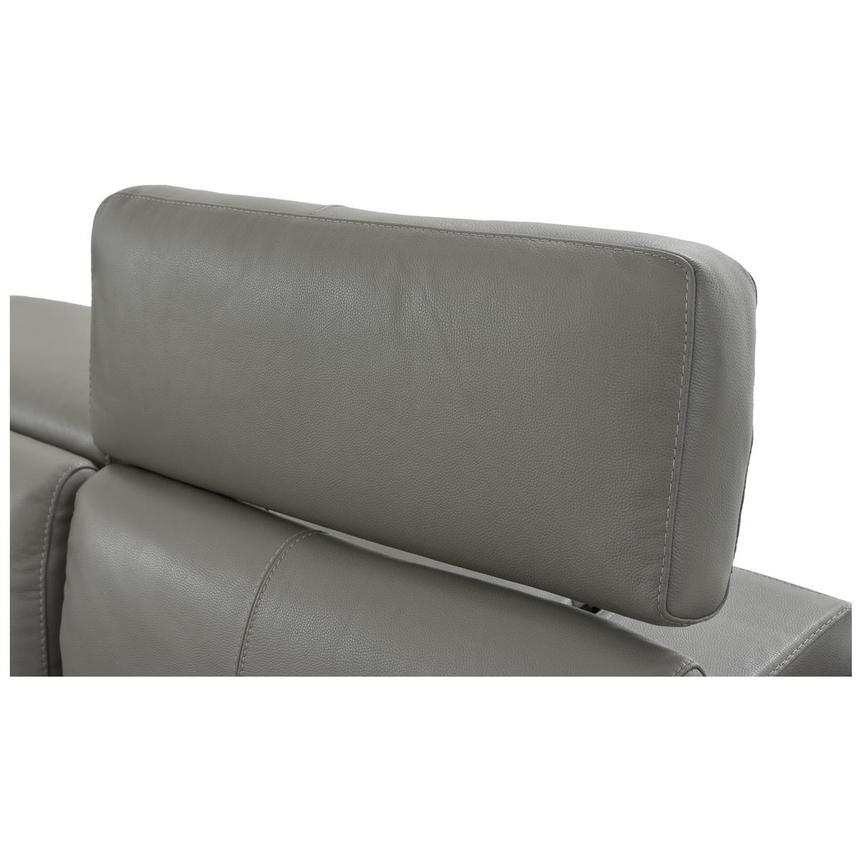 Charlie Gray Power Motion Leather Sofa w/Right & Left Recliners  alternate image, 7 of 9 images.