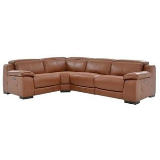 Gian Marco Tan Leather Power Reclining Sectional