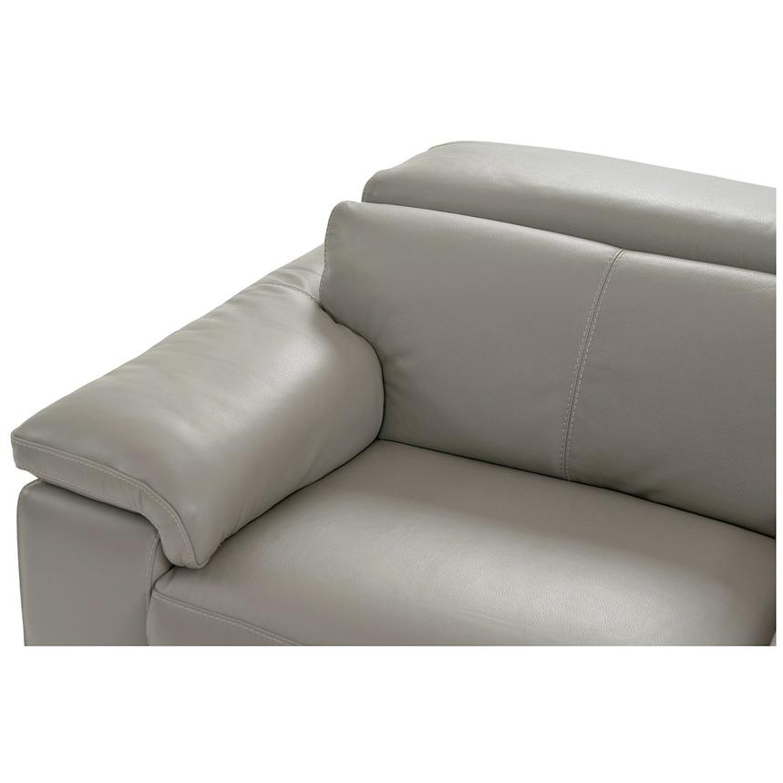 Charlie Light Gray Leather Power Reclining Sectional  alternate image, 5 of 11 images.