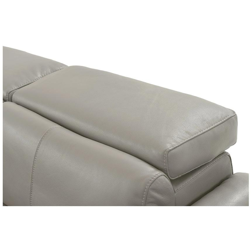 Charlie Light Gray Leather Power Reclining Sectional  alternate image, 6 of 10 images.