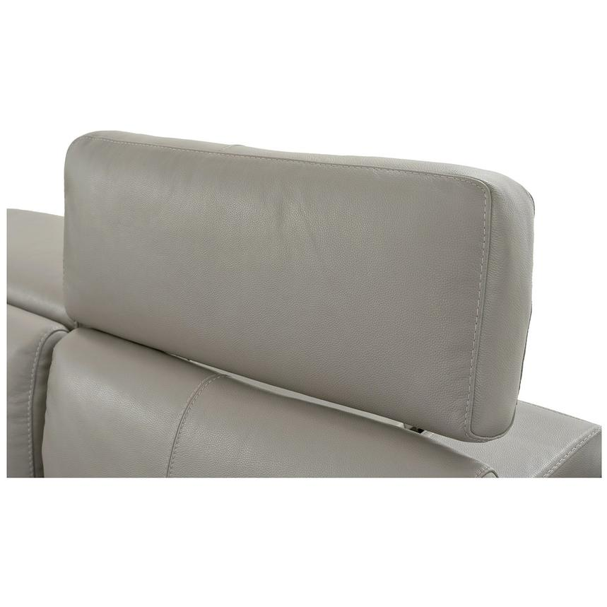 Charlie Light Gray Power Motion Leather Sofa w/Right & Left Recliners  alternate image, 7 of 9 images.