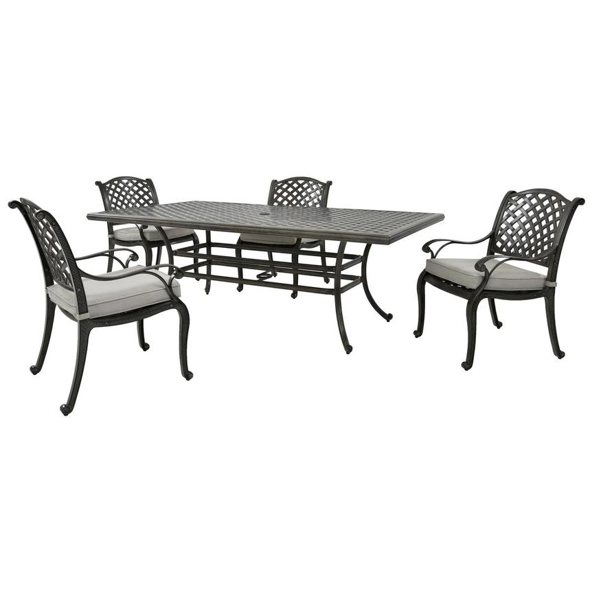 Castle Rock Gray 5-Piece Patio Set  main image, 1 of 12 images.