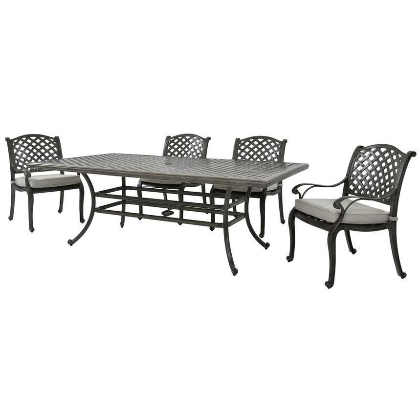 Castle Rock Gray 5-Piece Patio Set  alternate image, 2 of 12 images.