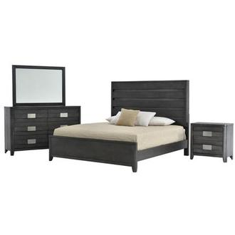 Contour Gray 4-Piece King Bedroom Set