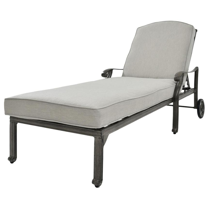 Castle Rock Gray Chaise Lounge  main image, 1 of 5 images.