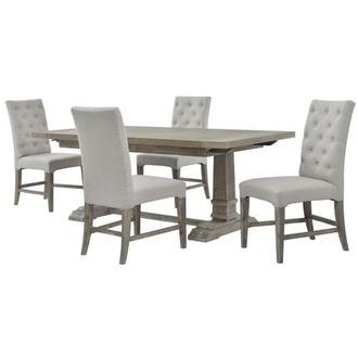 Hudson/Beltran Gray 5-Piece Formal Dining Set