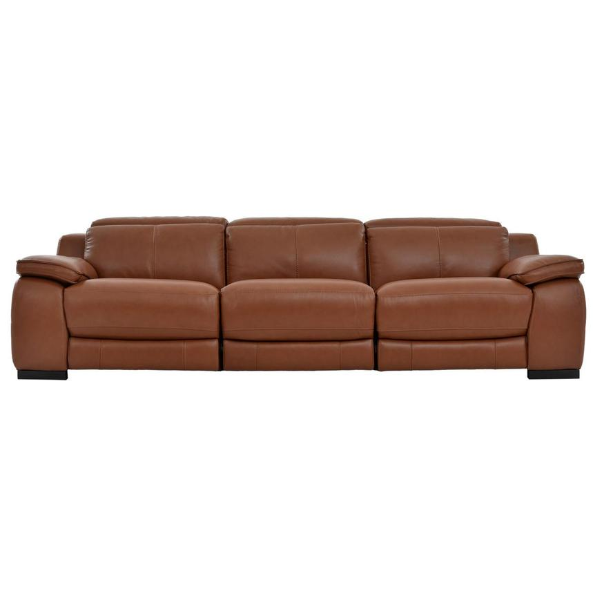 Gian Marco Tan Oversized Leather Sofa  main image, 1 of 8 images.