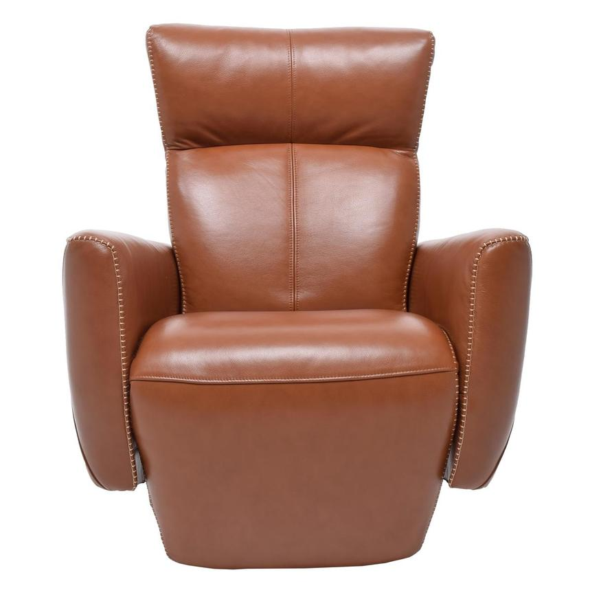 Jon Cognac Power Motion Leather Recliner  main image, 1 of 7 images.