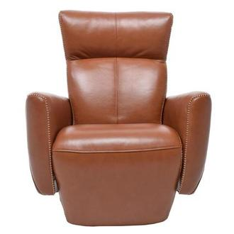 Jon Cognac Power Motion Leather Recliner