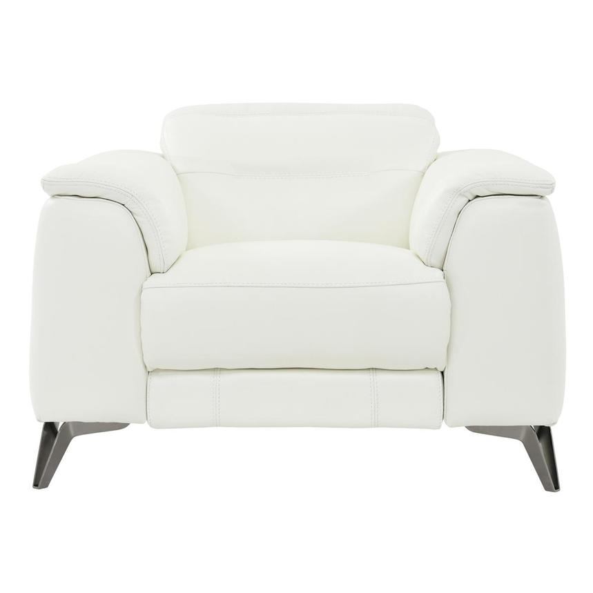 Anabel White Leather Power Recliner  main image, 1 of 8 images.