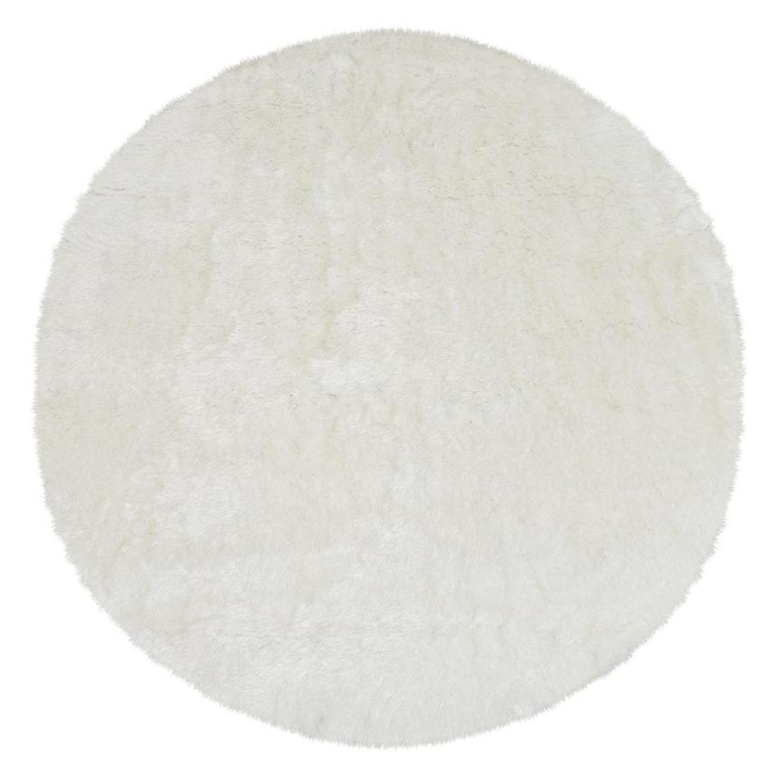 Milan White 8' Round Area Rug  main image, 1 of 2 images.