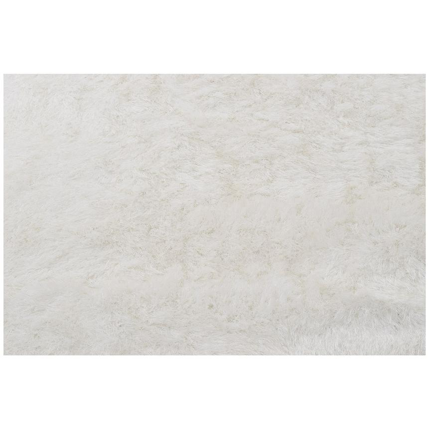 Milan White 8' Round Area Rug  alternate image, 2 of 2 images.