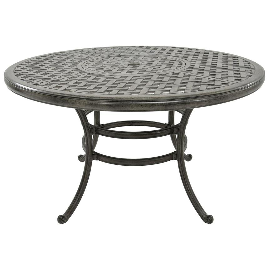 Castle Rock Gray Round Dining Table  main image, 1 of 4 images.
