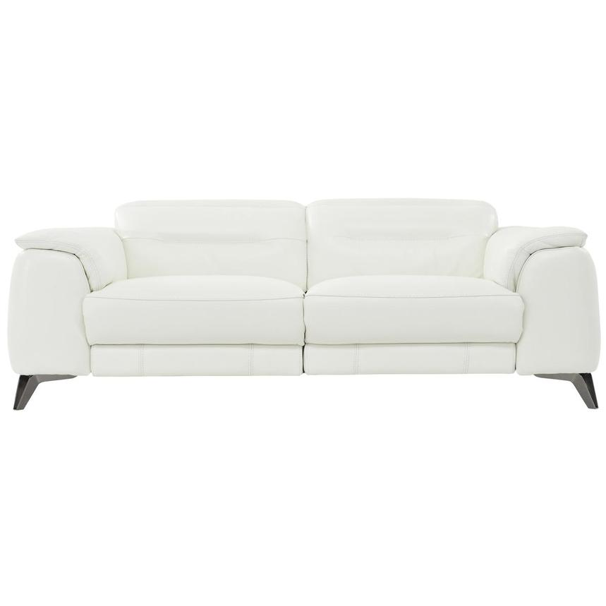 Anabel White Power Motion Leather Sofa  main image, 1 of 8 images.