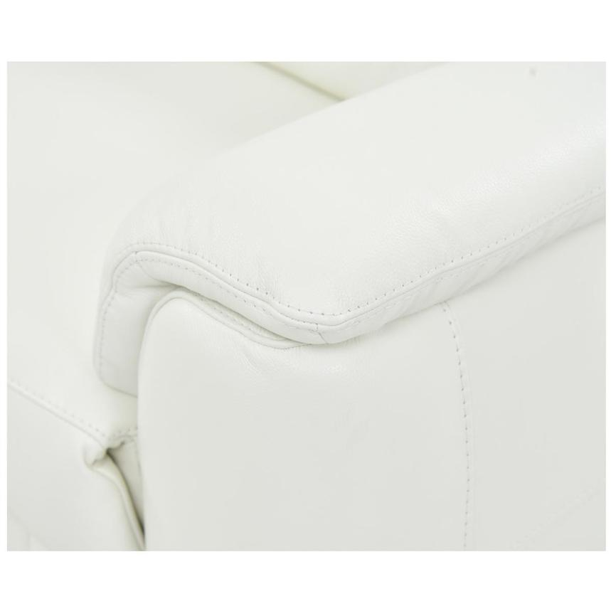 Anabel White Power Motion Leather Loveseat  alternate image, 6 of 8 images.