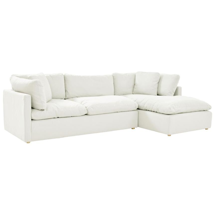 Neapolis White Sofa w/Right Chaise  main image, 1 of 5 images.