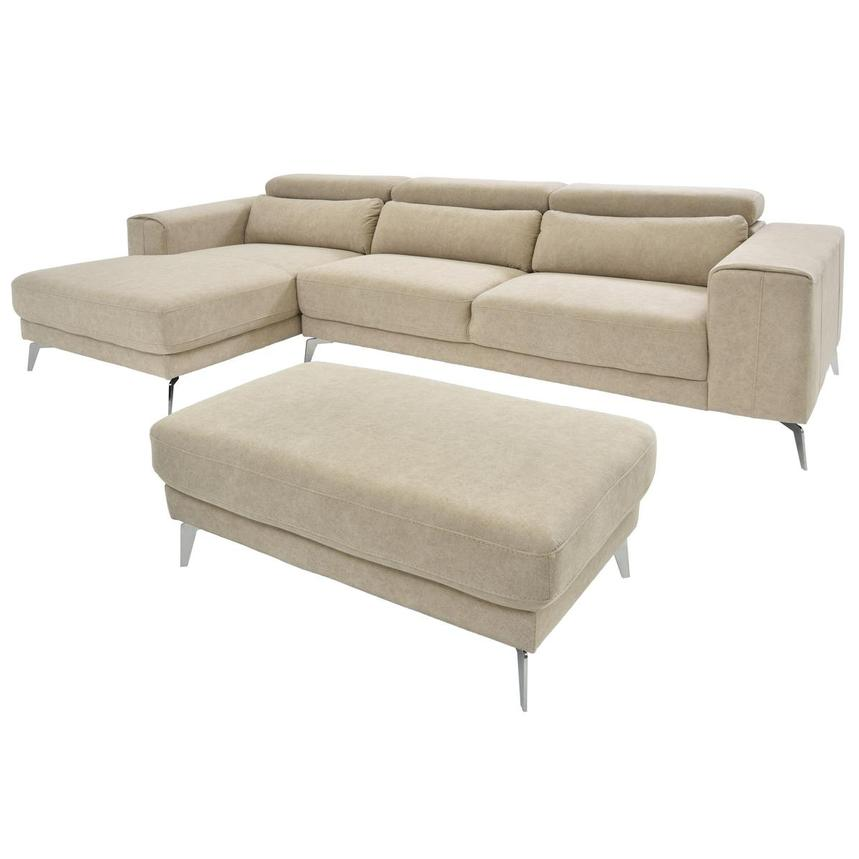 Tyler Corner Sofa w/Left Chaise & Ottoman  main image, 1 of 6 images.