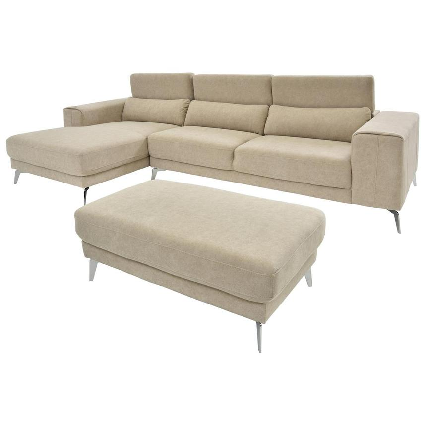 Tyler Sofa w/Left Chaise & Ottoman  alternate image, 2 of 6 images.