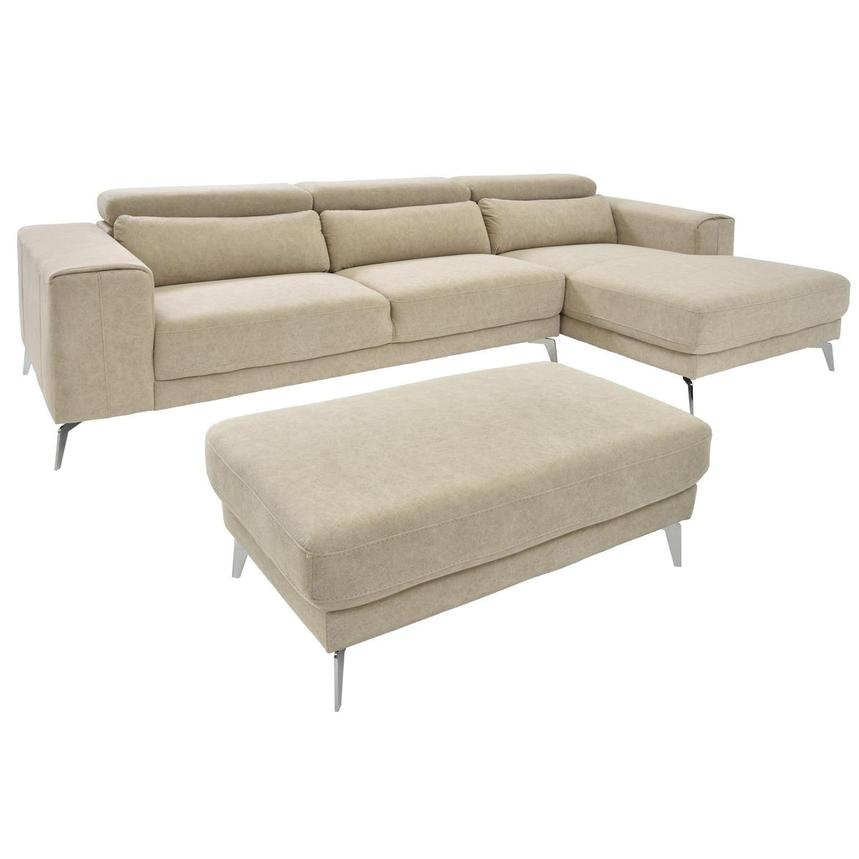 Tyler Sofa w/Right Chaise & Ottoman  main image, 1 of 6 images.