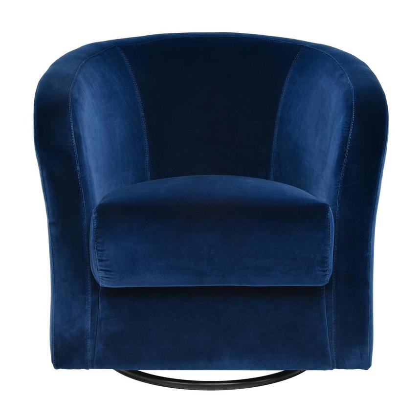 Delia Blue Swivel Accent Chair  main image, 1 of 5 images.