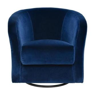 Delia Blue Swivel Accent Chair