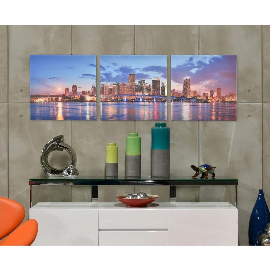 Miami Skyline III Set of 3 Acrylic Wall Art | El Dorado ...